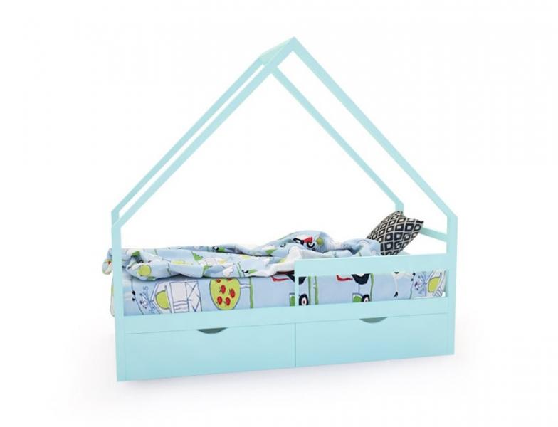 Кровать-домик «SCANDI» бирюзовый с официальной гарантией