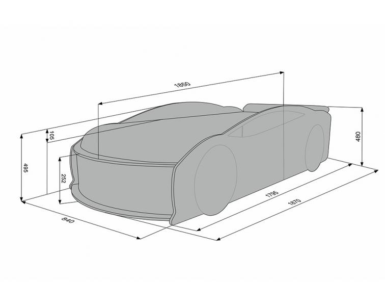 Кровать машина Ауди Манго Красная с официальной гарантией