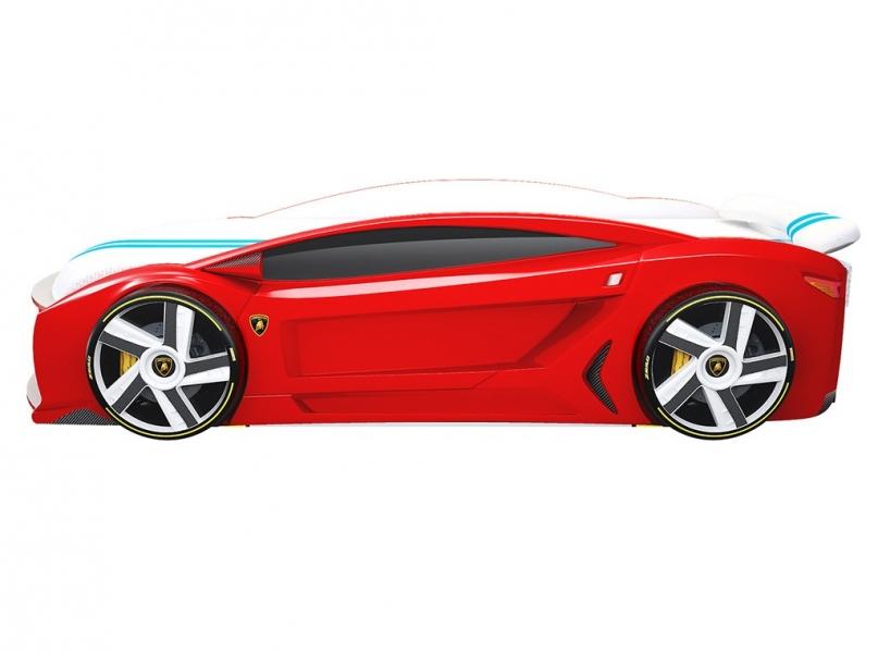 Кровать машина Ауди Манго Красная с профессиональной сборкой