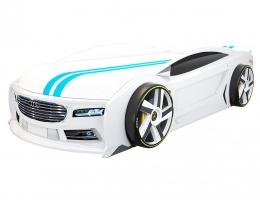 Кровать автомобиль Ауди Манго Белая купить в наличии в Санкт-Петербурге