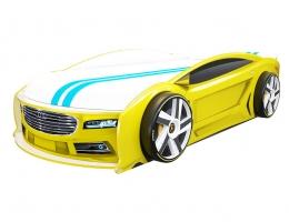 Кровать машина Ауди Манго Желтая купить в наличии в Санкт-Петербурге