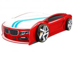 Подростковая кровать автомобиль БМВ Манго Красная купить в наличии в Санкт-Петербурге