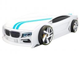 Подростковая кровать машина БМВ Манго Белая купить в наличии в Санкт-Петербурге