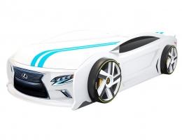 Кровать машина Лексус Манго Белый для подростков купить в наличии в Санкт-Петербурге