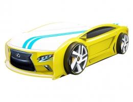 Кровать машина Лексус Манго Желтый купить в наличии в Санкт-Петербурге