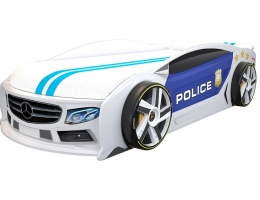 Кровать машина Мерседес Манго Полиция 2 купить в наличии в Санкт-Петербурге