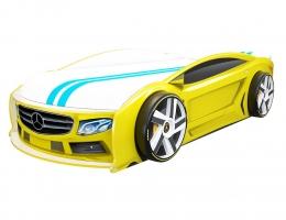 Кровать машина Мерседес Манго Желтый купить в наличии в Санкт-Петербурге