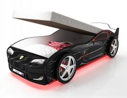 Кровать машина с подъемным механизмом Турбо Черная купить в наличии в Санкт-Петербурге