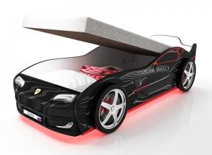 Кровать машина  с подъемным механизмом Турбо Черная