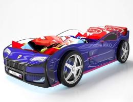 Объемная кровать машина Турбо Синяя купить в наличии в Санкт-Петербурге