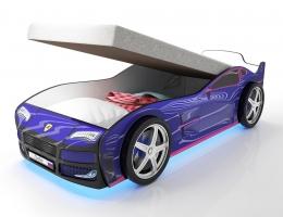 Кровать машина Турбо Синяя с подъемным матрасом купить в наличии в Санкт-Петербурге