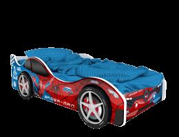 Детская кровать - машина Бостон. Человек паук купить в наличии в Санкт-Петербурге