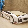 Объемная кровать машина Ламба Next Белая 2 без запаха
