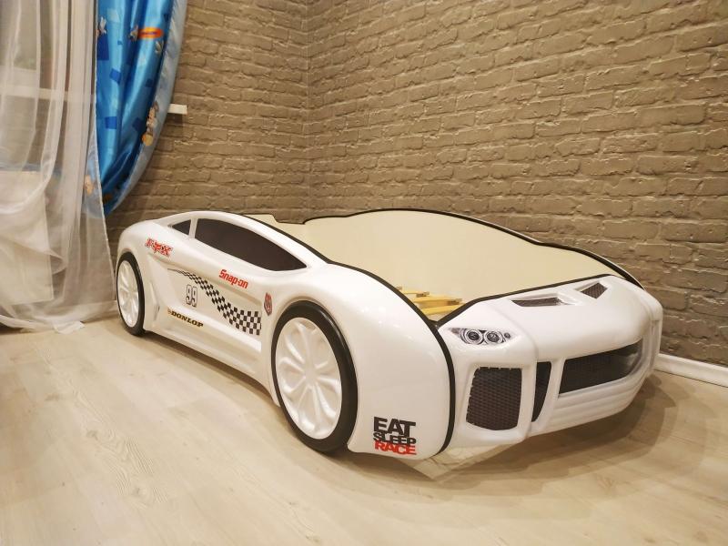 Кровать машина объемная Ламба Next Белая 2 в интернет-магазине