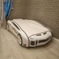 Объемная кровать машина Ламба Next Белая 2 с профессиональной сборкой