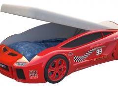 Кровать машина Ламба Next Красная2 с подъемным механизмом