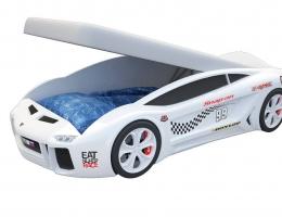 Кровать машина Ламба Next Белая2 с подъемным механизмом купить в наличии в Санкт-Петербурге