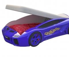 Кровать машина Ламба Next Синяя с подъемным механизмом