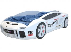 Объемная кровать машина Ламба Next Белая 2
