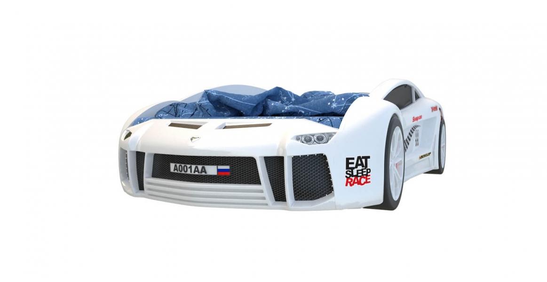 Кровать машина объемная Ламба Next Белая 2 с официальной гарантией