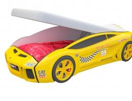 Кровать машина Ламба Next Желтая с подъемным механизмом купить в наличии в Санкт-Петербурге
