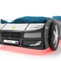 Объемная кровать машина Турбо Полиция Черная с хорошими отзывами