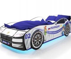 Объемная кровать машина Турбо Полиция