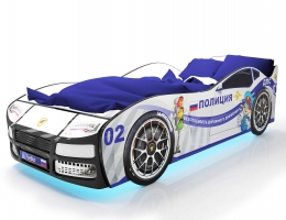 Объемная кровать машина Турбо Полиция купить в наличии в Санкт-Петербурге