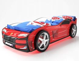 Объемная кровать машина Турбо Красная купить в наличии в Санкт-Петербурге
