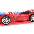 Объемная кровать машина Турбо Красная без запаха