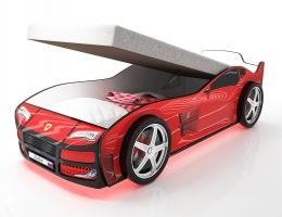 Кровать машина Турбо Красная с подъемным матрасом купить в наличии в Санкт-Петербурге
