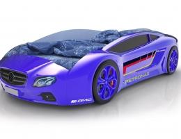 Объемная кровать машина Roadster Мерседес Синяя купить в наличии в Санкт-Петербурге