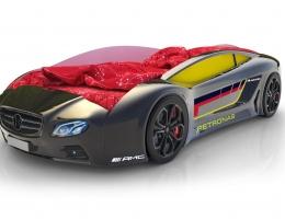 Объемная кровать машина Roadster Мерседес Черный купить в наличии в Санкт-Петербурге