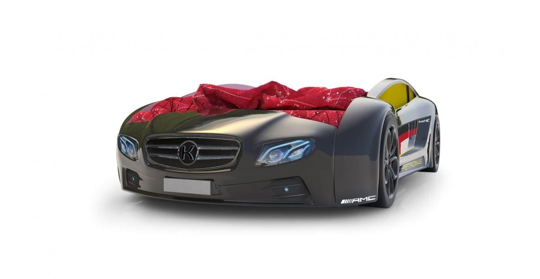 Объемная кровать машина Roadster Мерседес Черный без запаха