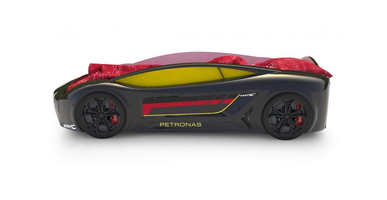 Объемная кровать машина Roadster Мерседес Черный с удобной инструкцией