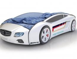 Объемная кровать машина Roadster Мерседес Белый купить в наличии в Санкт-Петербурге