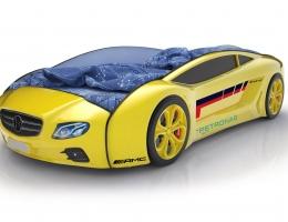 Объемная кровать машина Roadster Мерседес Желтый купить в наличии в Санкт-Петербурге