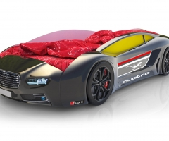 Объемная кровать машина Roadster Ауди Черная