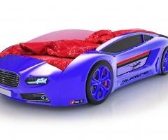 Объемная кровать машина Roadster Ауди Синяя