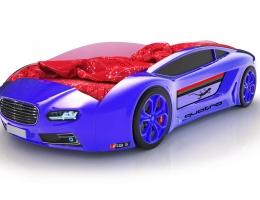 Объемная кровать машина Roadster Ауди Синяя купить в наличии в Санкт-Петербурге