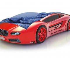 Объемная кровать машина Roadster Ауди Красная
