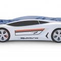 Объемная кровать машина Roadster Ауди Белая по отличной цене