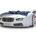 Объемная кровать машина Roadster Ауди Белая с профессиональной сборкой