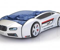 Объемная кровать машина Roadster Ауди Белая