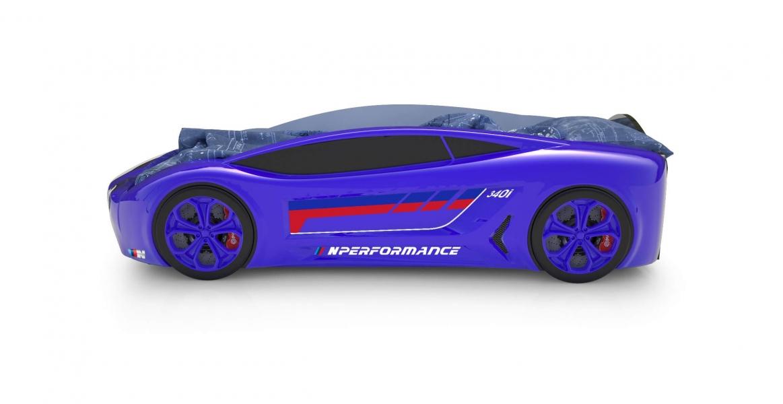 Объемная кровать машина Roadster БМВ Синяя по отличной цене