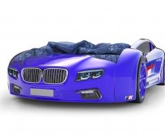 Объемная кровать машина Roadster БМВ Синяя