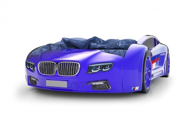 Объемная кровать машина Roadster БМВ Синяя в Санкт-Петербурге с доставкой