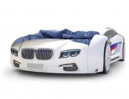 Объемная кровать машина Roadster БМВ Белая купить в наличии в Санкт-Петербурге
