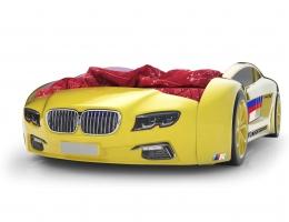 Объемная кровать машина Roadster БМВ Желтая купить в наличии в Санкт-Петербурге