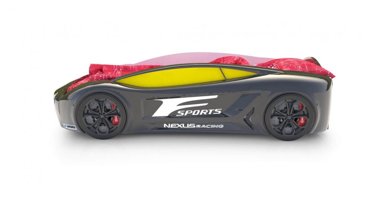 Объемная кровать машина Roadster Лексус Черный без запаха